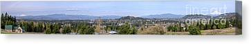 Powell Butte Park Panorama In Portland Oregon. Canvas Print by Gino Rigucci
