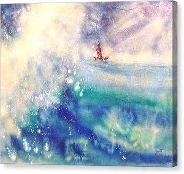 Powerful Sailing Canvas Print by John YATO
