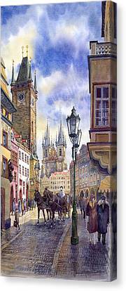Prague Old Town Square 01 Canvas Print