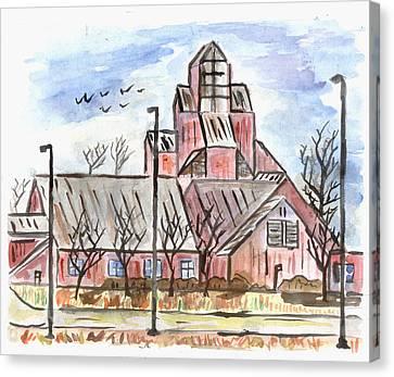 Prairie Holdings Building Canvas Print by Matt Gaudian