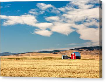 Red Skies Canvas Print - Prairie Red by Todd Klassy