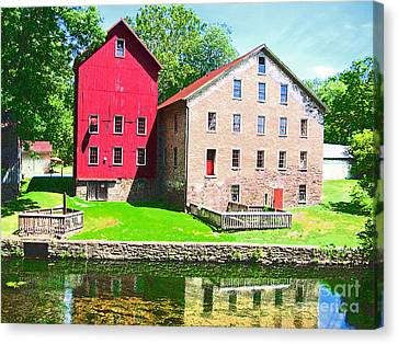 Prallsville Mill Canvas Print by Addie Hocynec