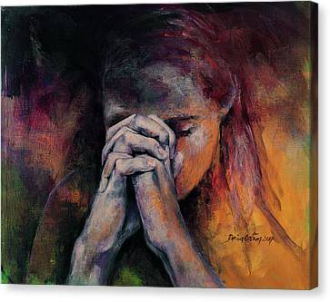 Praying Canvas Print