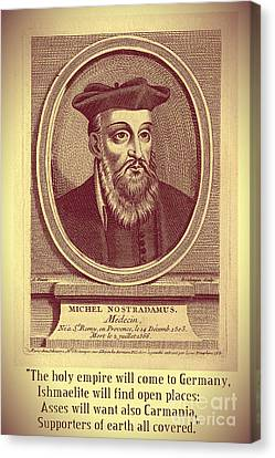 Predictions Of Nostradamus 3 Canvas Print