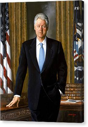 Democrats Canvas Print - President Bill Clinton by War Is Hell Store