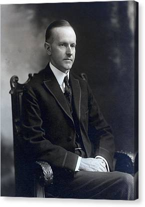 President Calvin Coolidge Canvas Print by International  Images