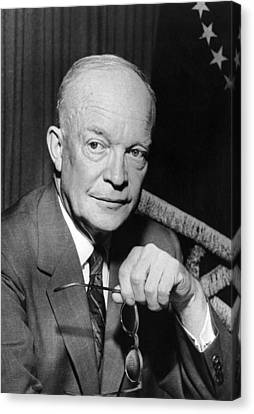 President Dwight D. Eisenhower Canvas Print by Underwood Archives