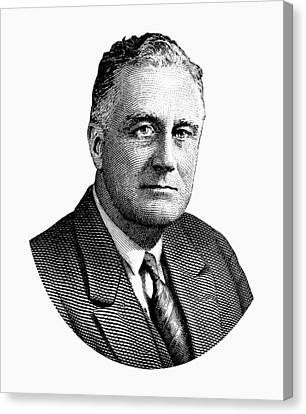 President Franklin Roosevelt Graphic  Canvas Print