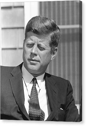 President John Kennedy Canvas Print by War Is Hell Store