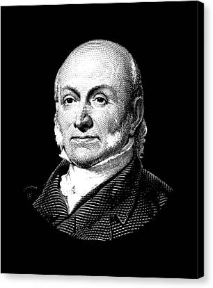 President John Quincy Adams Canvas Print by War Is Hell Store