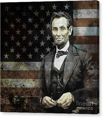 President Lincoln  Canvas Print by Gull G
