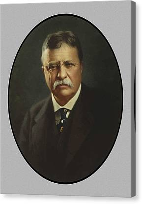 San Juan Canvas Print - President Theodore Roosevelt  by War Is Hell Store