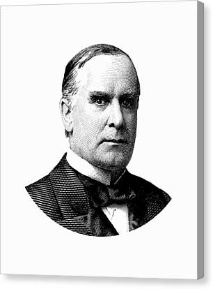 President William Mckinley Graphic Canvas Print by War Is Hell Store