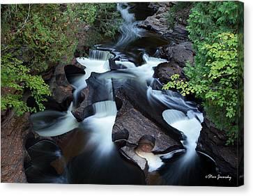 Presque Isle River Falls Canvas Print