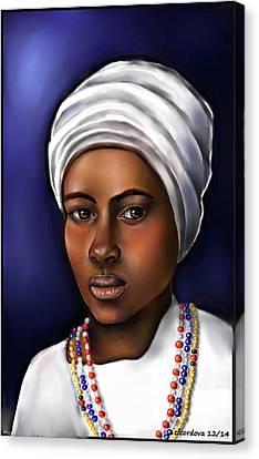 Orishas Canvas Print - Priestess Of Santeria by Carmen Cordova