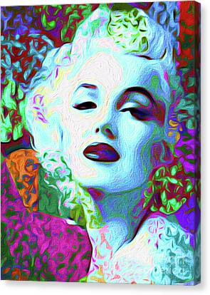 Primatic Marilyn Monroe Canvas Print by Chris Andruskiewicz