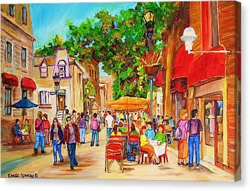 Prince Arthur Street Montreal Canvas Print by Carole Spandau