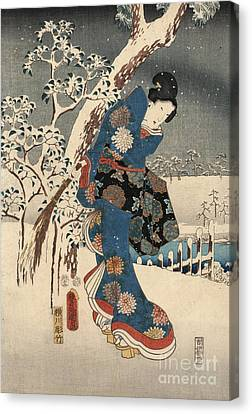 Print From The Tale Of Genji Canvas Print