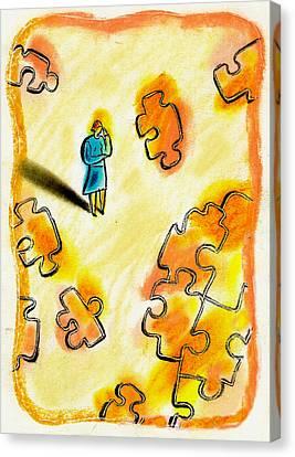 Problem Solving Canvas Print by Leon Zernitsky