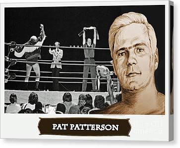 Professional Wrestling Legend Pat Patterson Canvas Print by Jim Fitzpatrick