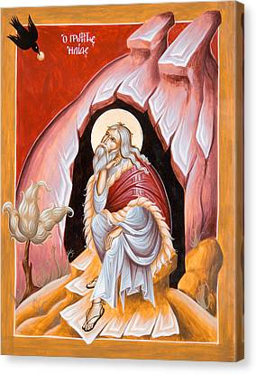 Prophet Elijah  Canvas Print by Julia Bridget Hayes