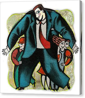 Lawyer And Protection Canvas Print by Leon Zernitsky