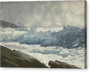 Prouts Neck, Breakers Canvas Print by Winslow Homer