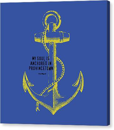 Provincetown Anchor Canvas Print by Brandi Fitzgerald