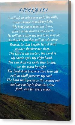 Psalm 121 Canvas Print by Sandi OReilly