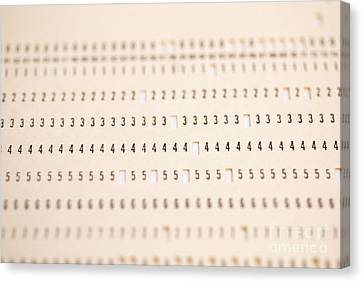 Punch Card Canvas Print by Photo Researchers, Inc.