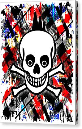 Punk Rock Skull Canvas Print