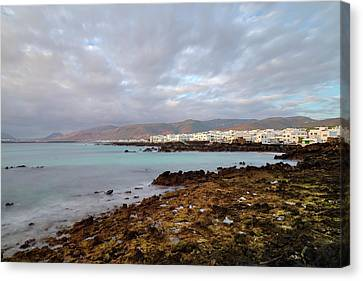 Water Swimming Pool Canvas Print - Punta Mujeres - Lanzarote by Joana Kruse