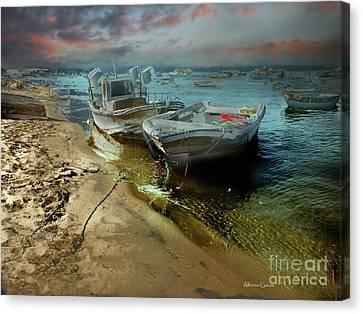 Canvas Print featuring the photograph Punta Umbria by Alfonso Garcia