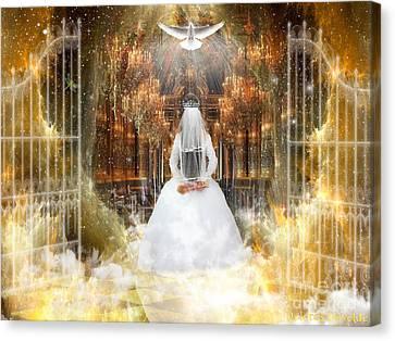 Pure Bride Canvas Print