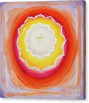 Purna Yantra Canvas Print