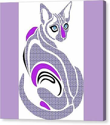 Purple Cat Canvas Print by Shannon Jordan