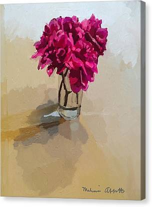 Purple Dahlias Canvas Print