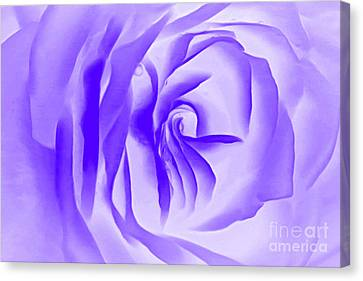 Floral Digital Art Canvas Print - Purple Promises by Krissy Katsimbras