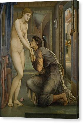 Pygmalion And The Image The Soul Attains  Canvas Print