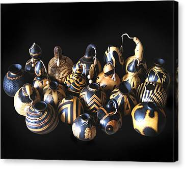 Pyrographed Gourds Canvas Print by Dino Muradian