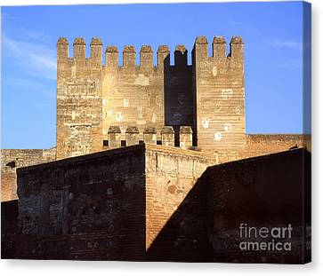 Historic Architecture Canvas Print - Quebrada Tower The Alcazaba The Alhambra by Guido Montanes Castillo