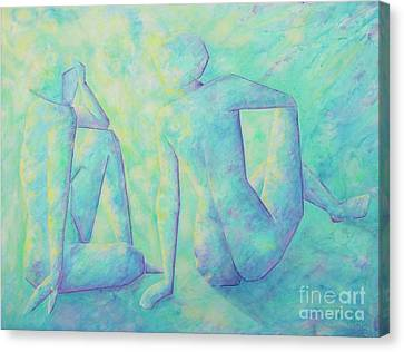 Quiet Conversation II Canvas Print