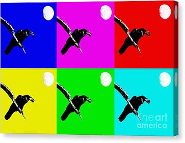 Quoth The Raven Nevermore Six Canvas Print by Wingsdomain Art and Photography