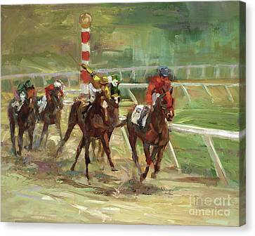 Race Horses Canvas Print