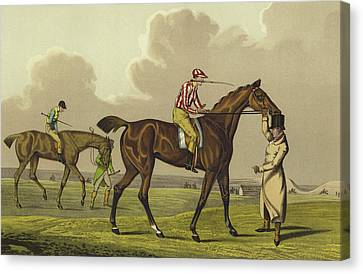 Racing Canvas Print by Henry Thomas Alken
