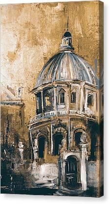 Library Canvas Print - Radcliffe Camera, Oxford City 195 3 by Mawra Tahreem