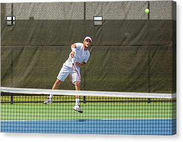 Atp World Tour Canvas Print - Radu Albot Plays At The Winston-salem Open by Bryan Pollard
