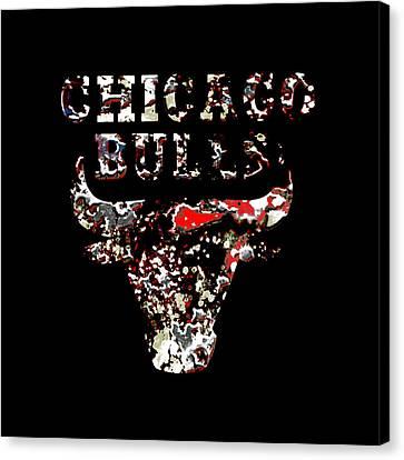 Raging Bulls Canvas Print by Brian Reaves