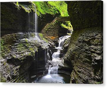 Rainbow Falls Canvas Print by Frozen in Time Fine Art Photography