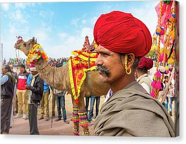 Rajasthani Man Canvas Print by Nila Newsom